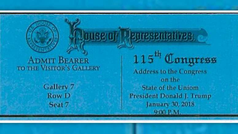 Typo on State of the Union ticket