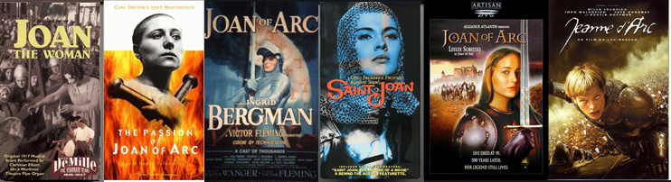 Six films about Joan of Arc