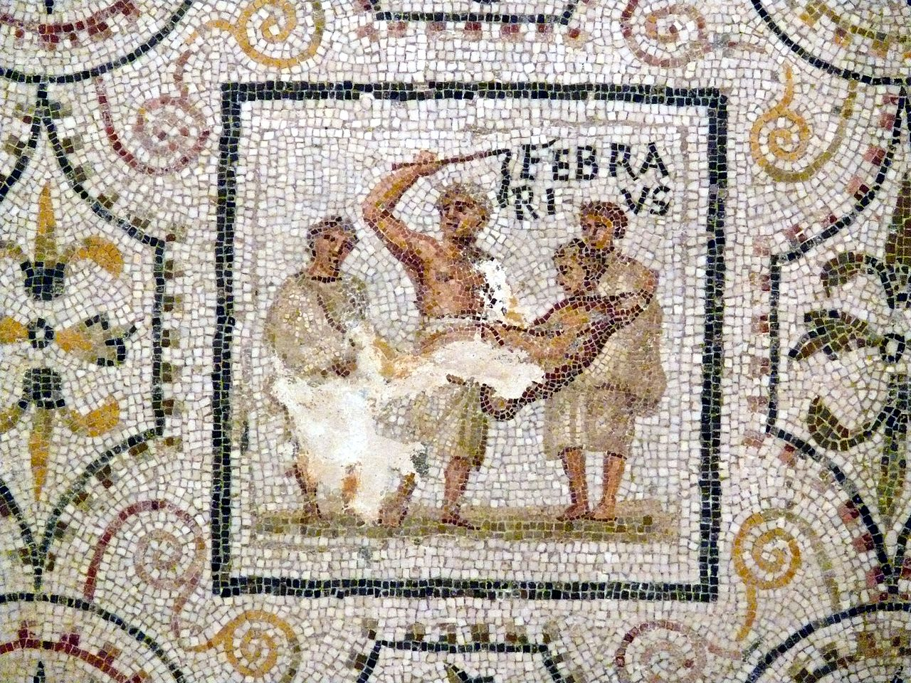 Panel from the third-century mosaic of the months at El-Djem, Tunisia, Roman Africa