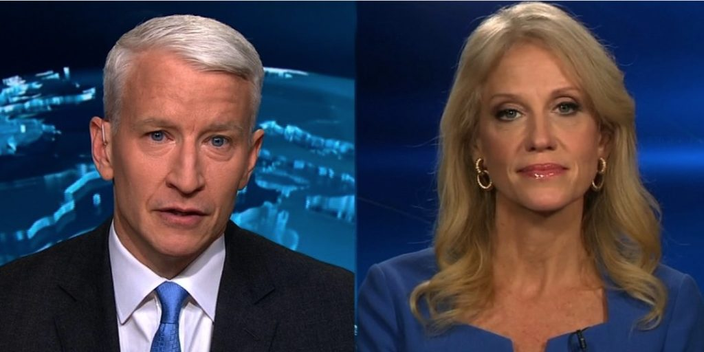 Anderson Cooper and Kellyanne Conway engage in a war of words.